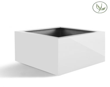 Amsterdam Low Cube L (80x80x60) Blanc brillant