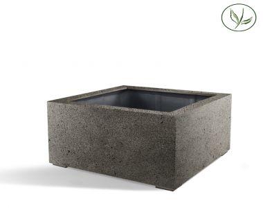 Paris Low Cube 100 - Béton gris (100x100x60)