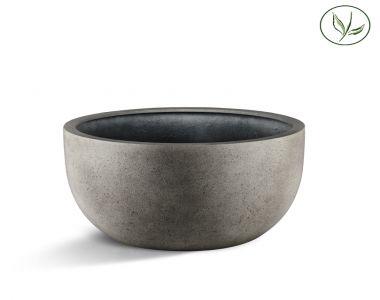 Paris New Egg Pot Low 80 - Béton gris (80x47)